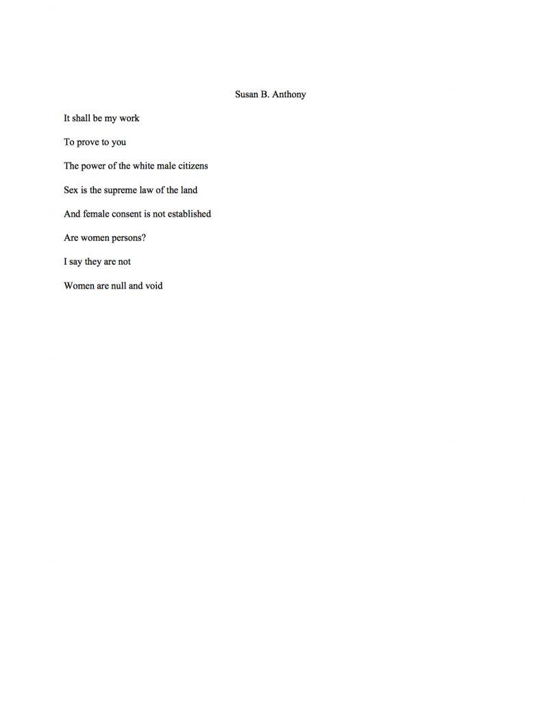 Susan B. Anthony Speech
